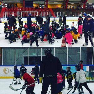 Fullt hus på premiären av Hockeyskolan 15/10-2016
