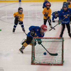 Hockeyskolan spelar minimatch i pausen Wings-Visby/Roma 27/11-2016