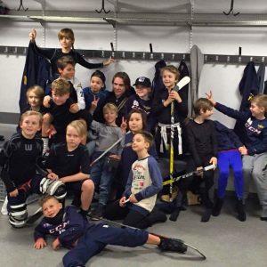Wings '07 laddar för att pausspela i Globen 26/12-2016 när DIF möter Växjö